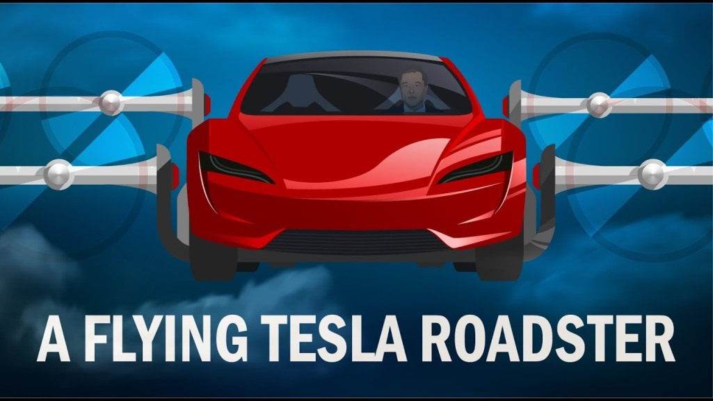 Tesla company Elon Musk is making flying cars, Roadster will be able to fly with SpaceX technology