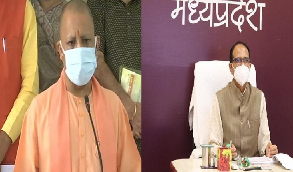 Yogi and Shivraj expressed their gratitude by tweeting on PM's announcement of free corona vaccine and free food grains