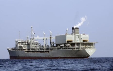The ship sank in the Gulf of Oman after Iran's warship firefighting efforts failed, crew safe