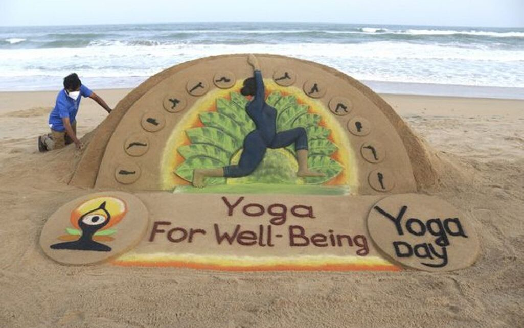 7th International Yoga Day being celebrated across the world, the theme of Yoga for Wellness