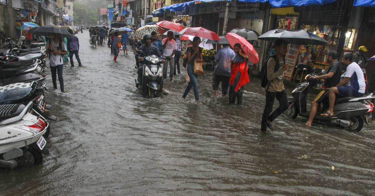 Heavy rains flood water treatment complex in Bhandup, train services suspended due to waterlogging
