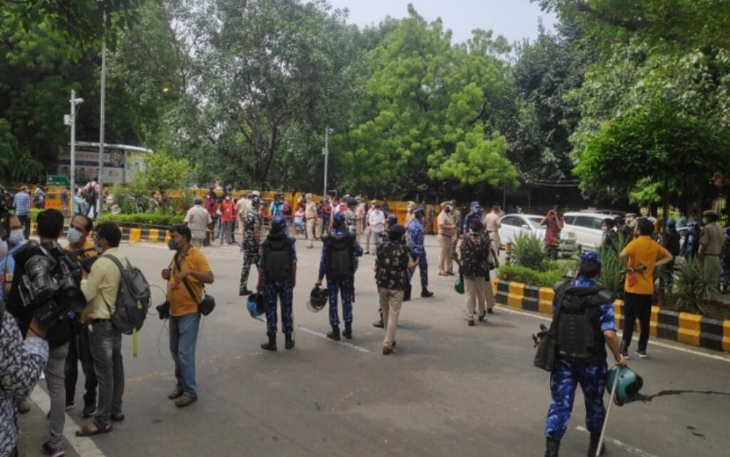 Despite getting permission, the protesting farmers did not reach Jantar Mantar on time