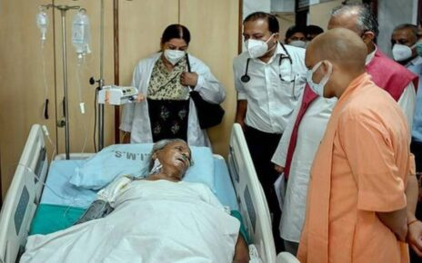 Chief Minister Yogi Adityanath reached SGPGI, former Chief Minister Kalyan Singh's condition very critical