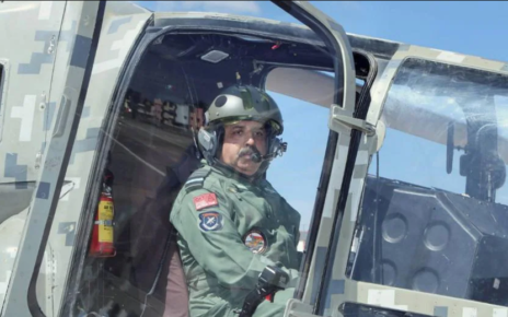 Air Force Chief Chief RKS Bhadauria flew in the indigenously made aircraft 'Tejas'