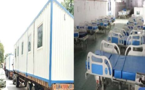 Central government will set up two container based mobile hospitals, all health facilities will be in 100 bed hospitals