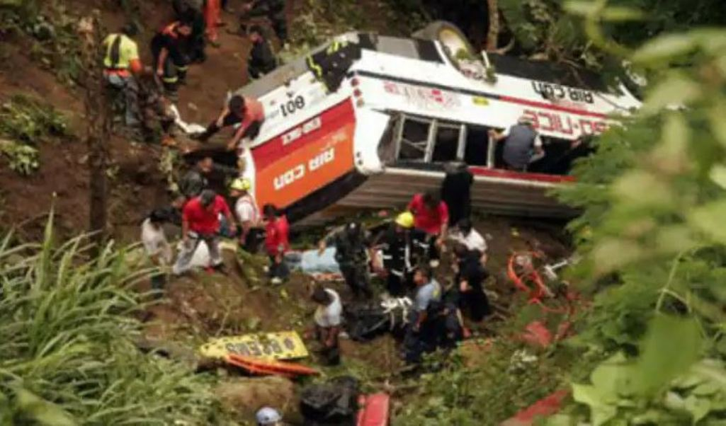 Major road accident in Nepal's Surkhet district, passenger bus fell into hundreds of fit ditch, 32 killed